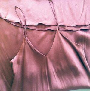 Party Calvin Klein Lilac silk dress